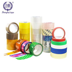 Verschiffen-Paket-Karton-Dichtungs-acrylsauerband des Zoll-BOPP druckte anhaftendes mit Firmenzeichen-Farbe OPP Verpackungs-Band