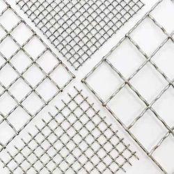 Acero inoxidable Material de construcción de tejido de malla de alambre galvanizado engastada Net
