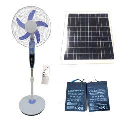 Moteur BLDC de 16 pouces à alimentation solaire Ventilateur solaire 12V DC ventilateur statif socle Ventilateur de plancher
