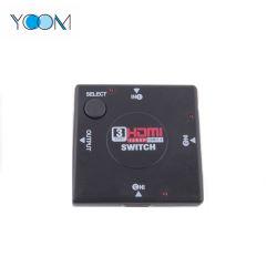 Ycom Conmutador HDMI 1080p 1.4 3 puertos admiten vídeos en 3D.