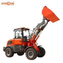 1.5 ton Everun Farmtools Mini cargadora de ruedas con cabina basculante