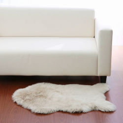 أوكازيون ساخن وطني faux Fur Long Hair البيئي السجاد القابل لإعادة الاستخدام