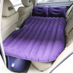 Floco roxo espuma colchão de ar com kit de bomba, Camping Férias cama dormir com 2 almofadas