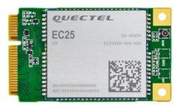 Quectel Ec25 Mini Pcie es una serie de lte el módulo de categoría 4, la adopción de tarjeta Mini PCI Express estándar Form Factor