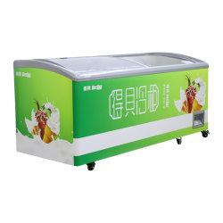 Haut vitrine à glaces coulissantes en verre commercial supermarché Réfrigérateur Ustensiles de cuisine de kérosène Hôtel mini-frigo congélateur de lot du refroidisseur