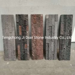 Repisa barata Paneles de pared de piedra pizarra piedra apilada Cultura Chapa de madera