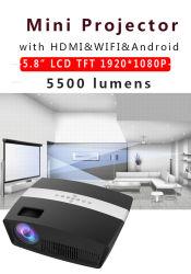 Кино Фильм мультимедиа для использования вне помещений WiFi Android видео домашнего кинотеатра 1080P светодиодный проектор Full HD Mini MS500 для смартфонов