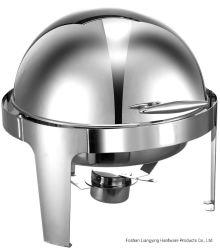 Fábrica Venta directa varios Roll Top Acero inoxidable plato de rozing Juego de buffet