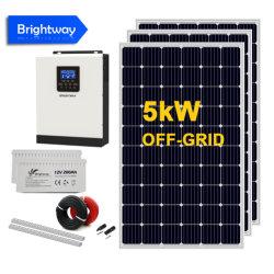 نظام الطاقة الشمسية بقدرة 7,5 كيلوفولت أمبير مع لوحة أحادية اللون بقدرة 500 واط شبكة غير شبكة مع بطارية