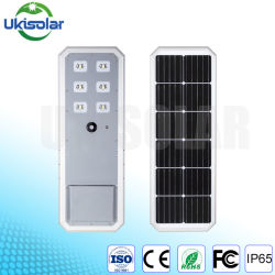 Ukisolar 2020 Alumbrado Público Solar compacto 40W con LiFePO4 Batería y mando a distancia