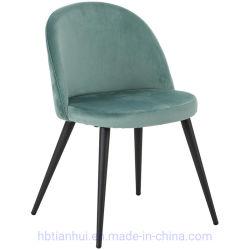 Modern Dining Room Chair Kitchen Chairs Set Accent Chair Set Von 2 für Wohnzimmer Seite Samt Stuhl mit Armlehne Metallbeine