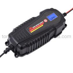 Portable 6V 12V 4Um Smart Battery Charger, Lítio (LiFePO4) & Baterias de Chumbo-Ácido