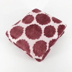 二重ソファーの柔らかいジャカード毛布のための側面によって印刷されるフランネルの投球