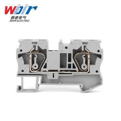 Connecteur de bloc de jonction de la partie automatique printemps personnalisé sur le fil de 6 mm 2 voies