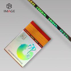 2mm Plata BOPP adhesivo holográfico de sustracción de Gaza para el Envasado de Café bolsa