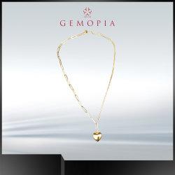 Buen color plata 925 de la mujer Colgante Collar de regalo