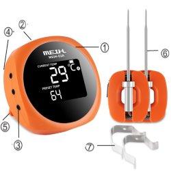 Drahtloser die Bluetooth BBQ-Fleisch-Thermometer-Großverkauf-wasserdichte elektronische Nahrung, die Ofen BBQ-Augenblick kocht, las Digital-Küche-Fleisch-Thermometer mit langem Fühler