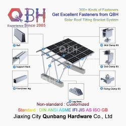 Qbh настроенных гражданских коммерческого промышленного солнечной энергии питания системы покатые крыши при наклоне монтажный кронштейн для установки в стойку подставки аксессуары для фотоэлектрических PV панели
