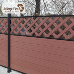 Lattice balcon jardin en bois de clôture de la conception de réseau WPC Composite clôture décorative