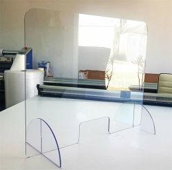 4mm 5mm 6mm el escritorio de oficina de deflector de acrílico transparente, la partición de acrílico transparente de plástico de las hojas de mostrador de la habitación de la pantalla del divisor para corte por láser