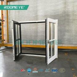 Thermischer Bruch-doppeltes Scheiben-Flügelfenster-Neigung-Drehung-Aluminiumfenster mit Rasterfeld-Dekorationen
