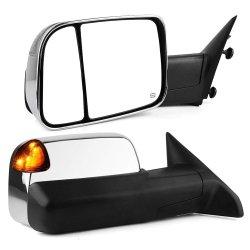 Lite forma Camioneta remolque termico potencia Espejo espejo lateral del coche de la señal de giro de la luz de charco el retrovisor para captura de 2009-2012