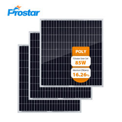 85W LED 빛을%s 다결정 태양 전지판 85wp 소형 태양 전지판