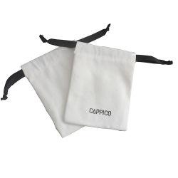حقيبة قماشية مطبوعة مع قماش قطني مناسب للاستعمال من قبل شركة Eco جراب مجوهرات أبيض للشعار