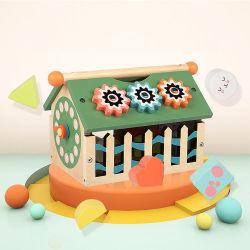 Детский Dropshipping многофункциональный мудрость цифровой дом подбор формы окна деревянные образования геометрической формы окно игры Монтессори деревянные игрушки