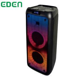 Heißer Verkauf Private Dual 5,5 Zoll mit Feuer-Effekt-Beleuchtung Kabellose Batterie Tragbare Bluetooth Party Sound Box Lautsprecher Audio