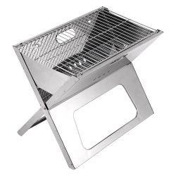 X形の携帯用折る木炭バーベキューのグリルの卸売の小型ステンレス鋼BBQのグリル