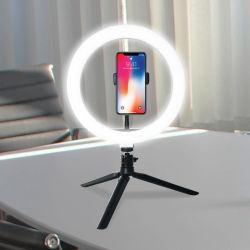 Téléphone portable compact 8 pouces à maquillage Live pliable Tripod Stick Fill Feu de sonnerie feu de sélection anneau feu de jante