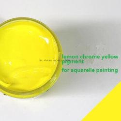 El limón Amarillo cromo para pintar Acuarela Acuarela //dibujo en el agua color