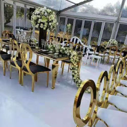 أثاث حديث القلب الحبّ أثاث حفلة زفاف خارجية أثاث يحى كرسي ذو طلاء من الفولاذ المقاوم للصدأ أبيض