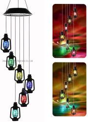 Lampe solaire vent solaire Carillon Carillon de vent de changement de couleur de la Lampe Lampe à pétrole lampe LED Lampe Solaire de Jardin Courtyard lampe LED Lampe à huile de changement de couleur