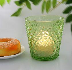 De groene Kop van het Glas van de Houder van de Kaars van het Glas