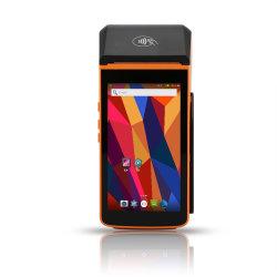 الدعم الطرفي لنظام التشغيل Android OS Mobile POS بشاشة لمس مقاس 5 بوصات TS-P20L قارئ بطاقات 4G/Bluetooth/NFC/EMV المغناطيسية