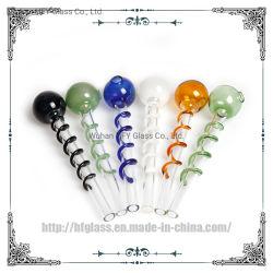 Мини-Pyrex стекло масло горелки трубы Bobbin стеклянной трубки для курения трубки аксессуары