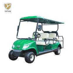 Via Rod che fa un giro del carrello di golf elettrico dei 2+4 passeggeri