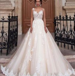 2019 Fashion Sexy vestido de Renda Fina Branca Senhora Dress vestido de casamento