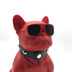 Nuevo portátil de la llegada de los animales de dibujos animados Bulldog perro altavoz Bluetooth con conexión inalámbrica HiFi altavoz CHM11