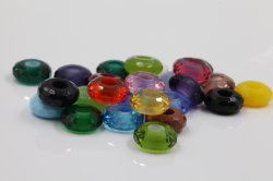 Esferas de vidro multifacetada com o tamanho do orifício grande para jóias