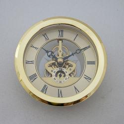 Skelett Uhr Einsatz Runde Transparente Wanduhr Einsatz Römischen Zifferblatt Geschenke Messing Uhr Bewegung