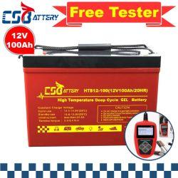 Csbattery 12V100ah высокого уровня дизайн гель для автомобильного аккумулятора/автобусе/ИБП/Electric-Power/Solar-Storage/Electric-Scooter/Csb/AAA