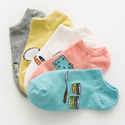 Les femmes Chaussettes confort décontracté de l'Art de la cheville chaussettes de coton durable filles Coupe basse rayé invisible des femmes de la Bonneterie Meias Sock mignon