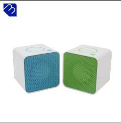 Spreker Etg van Boombx Fq van de Gift van de Verjaardag van de Bom van de Kleur van de Kaart van de Kubus BR van de Zuiging van Bluetooth de Waterdichte Witte Correcte Navulbare Mini Digitale