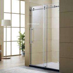 Безопасности из закаленного стекла боковой сдвижной экран душ