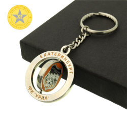 X-cadeaux éternelle de l'émail poli de gros de la conception personnalisée Qality rotatif en métal de haute chaîne de clés