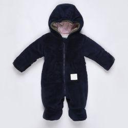 Baby-Jungen-Winter-warmer unten UmhüllungSnowsuit mit Handschuhen