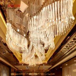 El arte de lujo de vidrio sólida gran salón de banquetes iluminación Decoración